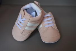 Baby schoentjes leren sneaker roze