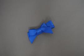 Haarlokspeldje met strikje 'roayl blue'