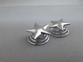 Haardraaier/curly 'ster' zilver