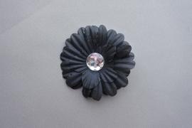 Kleine bloem met steen 'zwart'