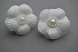 Baby elastiekje bloem 'ivoor'