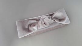 Baby/ peuter haarbandje met knoop 'grijs'