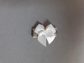 Baby klittenband haarspeldje  'ruitje/strik'