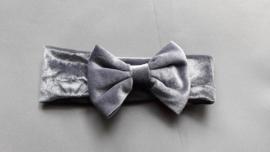Baby / peuter haarbandje met strik 'grijs'