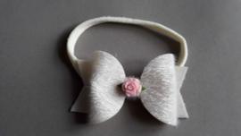 Haarbandje met strik 'ivoor'