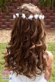Curly 'organza flower'