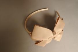 Haarband met strik 'camel'