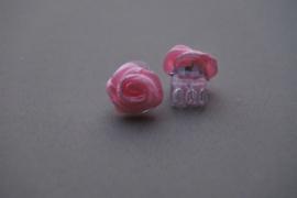 Haarklemmetjes met roosje 'roze'