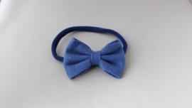 Baby haarbandje met strik 'blauw'
