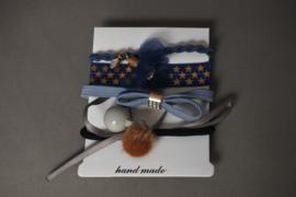 Set elastieken 'blauw'