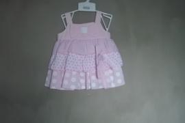 3 delig jurkje 'roze/printjes'
