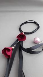 Feestelijk lintjes elastiek 'rood'