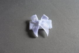 Baby klittenband haarspeldje  met strikje 'wit'