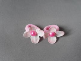 Baby elastiekje bloem 'roze'