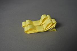 Setje haarlokspeldjes met strik ' geel'