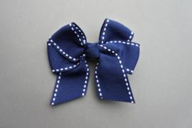Strik 'blauw/wit'