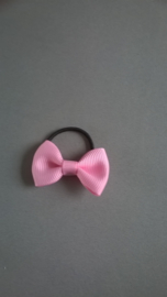 Klein elastiekje met strikje 'roze'