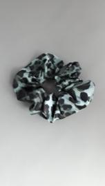 Scrunchie dierenprint 'groen/zwart'