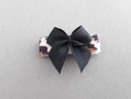 Baby klittenband haarspeldje  'dierenprint'