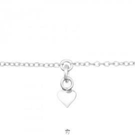 Zilveren kinder armbandje 'hangend hartje'