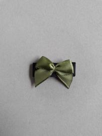 Baby klittenband haarspeldje met strikje 'zwart/groen'