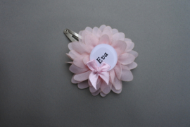 Haarspeldje met naam 'chiffon/roze'