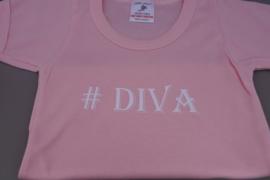 T-shirt met tekst: #Diva