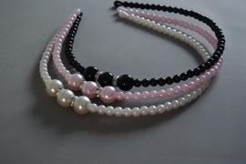 Feestelijke parel diadeem/ haarband