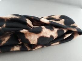 Haarband panterprint 'bruin'
