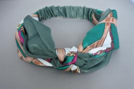 Haarband geknoopt 'green'
