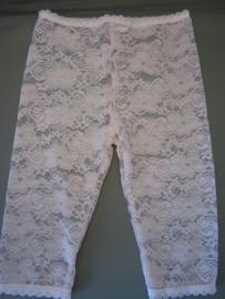 Legging van kant 3/4 (roze