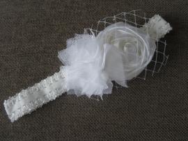 Haarbandje wit 'feestelijk'
