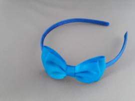 Diadem met strik blauw