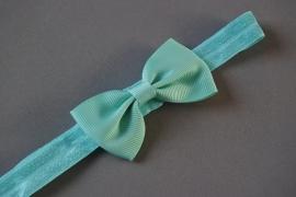 Haarbandje met strikje 'groen'