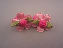 Baby elastiekje 'roze/roosje'