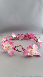 Bloemen haarband 'fuchsia'