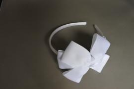 Haarband met strik 'wit'