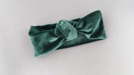 Baby/ peuter haarbandje 'groen'