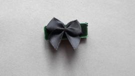 Baby klittenband haarspeldje 'groen fluweel'