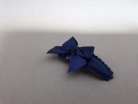 Baby haarknipje 'blauw/strikje '