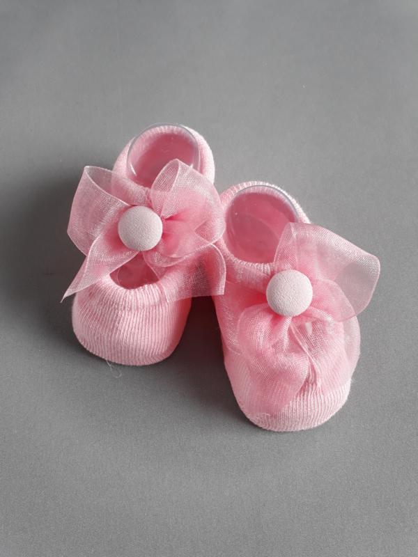 Baby ballerina sokjes met organza strik
