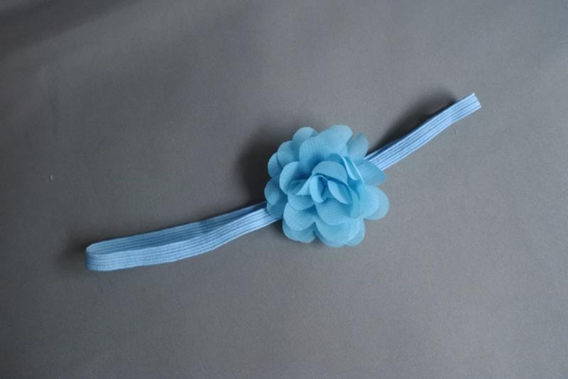 Smal haarbandje blauw