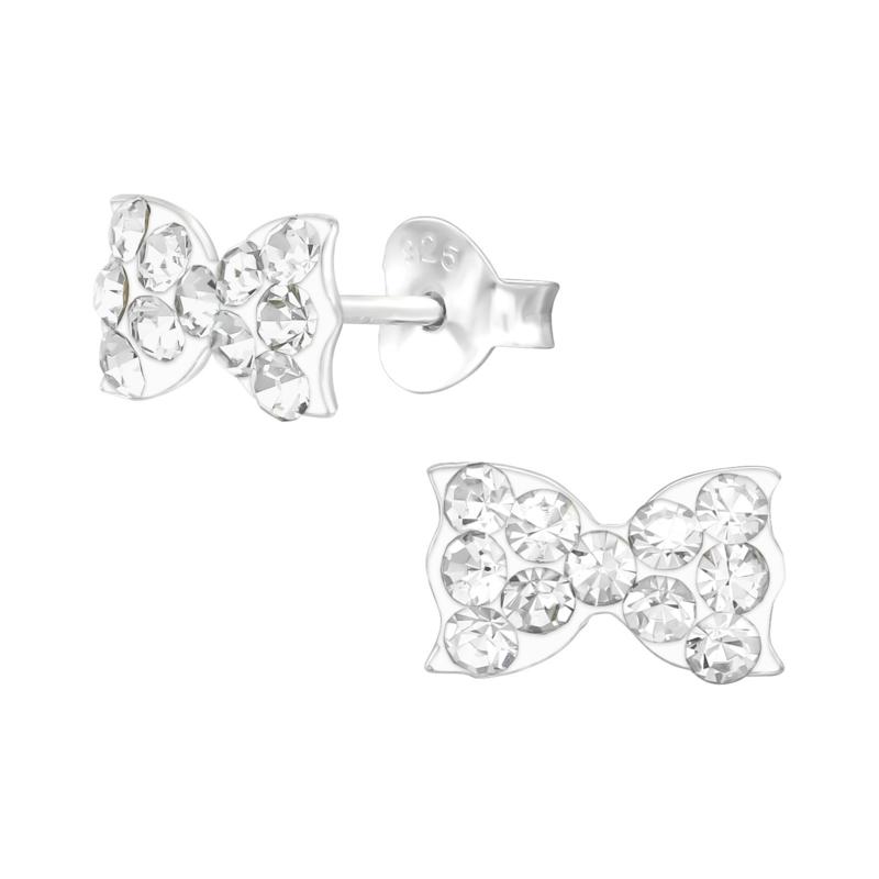 Zilveren oorbelletjes 'strikje'