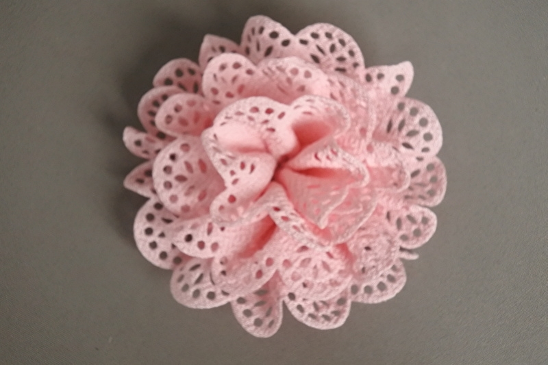 Roze brocante bloem