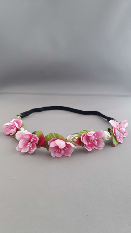 Bloemen haarbandje 'roze'