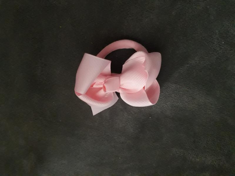 Elastiek strik 'roze'