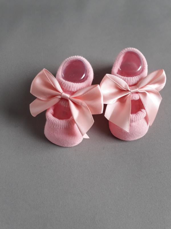 Baby ballerina sokjes met satijnen strik