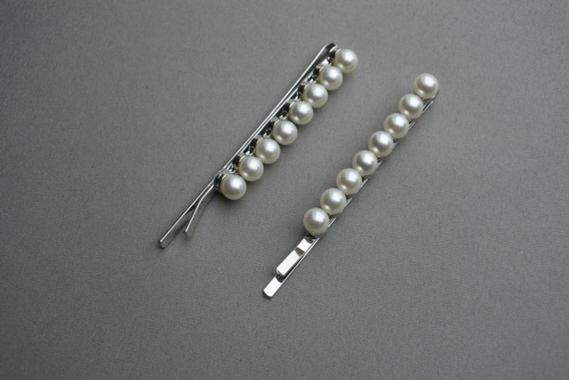 Haarschuifje 'pearl'