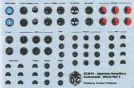 1/48 Japanese army/navy instrument decals(D48007) NIEUW   !!!