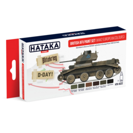 HTK-AS22	British AFV paint set (WW2 European colours)